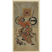 Torii Kiyonobu II: The actor Ichikawa Monnosuke. - Library of Congress