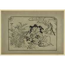 Hishikawa Moronobu: [Lovers in an autumn meadow] - Library of Congress
