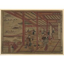 Nishimura Shigenaga: [Moon viewing at Shinagawa] - Library of Congress