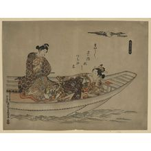 Okumura Masanobu: [Two lovers in a boat] - Library of Congress