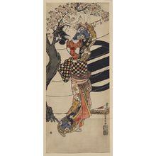 石川豊信: [Hanging poems on a cherry tree] - アメリカ議会図書館
