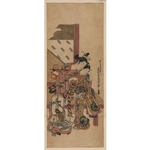 Okumura Masanobu: [Two girls whispering] - Library of Congress