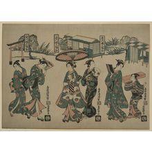 鳥居清満: [Beauties from Fukagawa] - アメリカ議会図書館