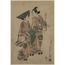 Ishikawa Toyonobu: The actors Onoe Kikugorō and Nakamura Kiyosaburō. - Library of Congress