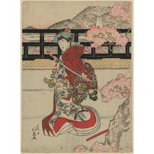Shunbaisai Hokuei: The actor Nakamura Tomijūrō in the role of Shizuka Gozen. - Library of Congress