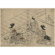 Nishikawa Sukenobu: A drinking party. - Library of Congress