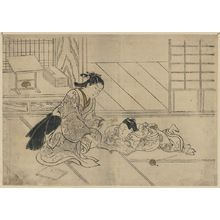 Nishikawa Sukenobu: A mother and son [her son doesn't want her to read]. - Library of Congress