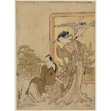 Suzuki Harunobu: Transformed armor pulling incident [kusazuri biki]. - Library of Congress