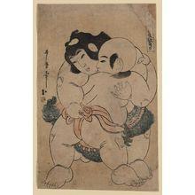 Utamaro II: A charming sumo match. - アメリカ議会図書館