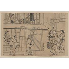 Okumura Masanobu: Edochō, Shin-Yoshiwara. - Library of Congress