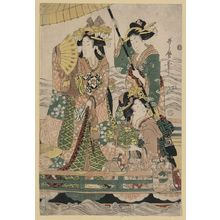 Utamaro II: Princess cruising on the royal boat. - アメリカ議会図書館