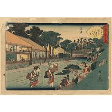 Utagawa Hiroshige: The tea house Ōgi-ya at Ōji. - Library of Congress
