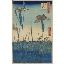 歌川広重: Horikiri iris garden. - アメリカ議会図書館