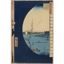 Utagawa Hiroshige: View from Massaki of Suijin Shrine, Uchigawa Inlet, and Sekiya. - Library of Congress