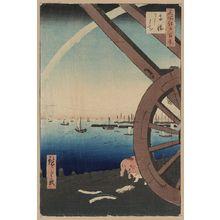 歌川広重: Ushimachi, Takanawa. - アメリカ議会図書館