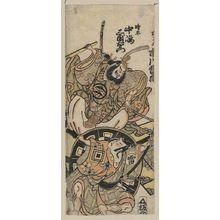 北尾重政: The actors Ichikawa Raizō in the role of Umeōmaru and Nakajima Mihoeimon in the role of Shihei. - アメリカ議会図書館
