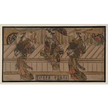 Okumura Masanobu: Three actors. - Library of Congress