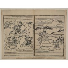 Hishikawa Moronobu: [Two scenes related to the Soga family] - Library of Congress