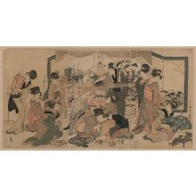 Kitagawa Utamaro: Festival of the god of good fortune, Ebisu. - Library of Congress