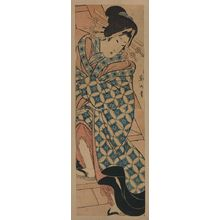 Kikugawa Eizan: Courtesan climbing stairs. - Library of Congress