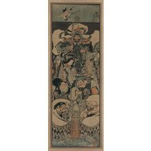 Utagawa Kuniyoshi: Seven gods of good fortune in the treasure boat. - Library of Congress