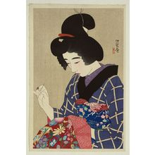 Ito Shinsui: Sewing. - Library of Congress