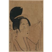 Kitagawa Utamaro: Sheer cloth. - Library of Congress