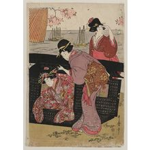 Kitagawa Utamaro: Cherry-viewing at Gotenyama. - Library of Congress
