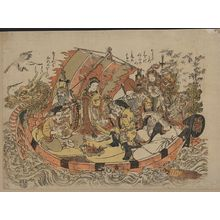 Kitao Shigemasa: Seven gods of good fortune in the treasure boat. - Library of Congress