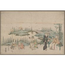 Katsukawa Shunsen: Catching fireflies. - Library of Congress