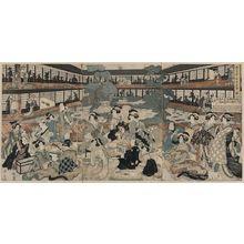 菊川英山: View of a room in the Ogi house of new yoshiwara. - アメリカ議会図書館