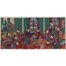 Utagawa Yoshitora: The house of Kinpeiro in New Yoshiwara. - Library of Congress