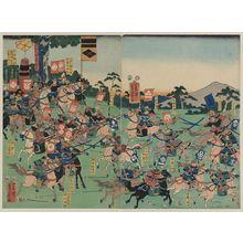 歌川芳員: Battle at Kawanakajima. - アメリカ議会図書館