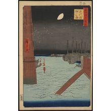 歌川広重: Tsukuda island from Eitai bridge. - アメリカ議会図書館