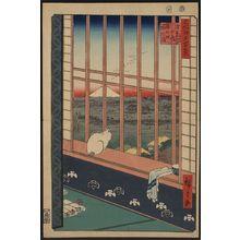 歌川広重: Asakusa ricefields and torinomachi festival. - アメリカ議会図書館