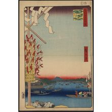 Utagawa Hiroshige: Boats at Ryōgoku bridge with a distant view of Asakusa. - Library of Congress