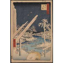 歌川広重: Fukagawa lumberyards. - アメリカ議会図書館