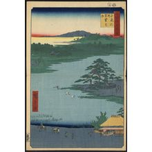 Utagawa Hiroshige: Robe- (or scarf) hanging pine, Senzoku pond. - Library of Congress