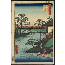 歌川広重: Mokubo Temple, Uchigawa Inlet, Gozensaihata. - アメリカ議会図書館