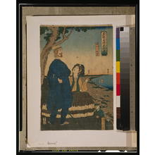 Utagawa Sadahide: Enjoying the view from Atago hill. - Library of Congress
