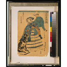 歌川貞秀: American lady playing accordion. - アメリカ議会図書館