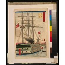 歌川広重: Black ship off Shinagawa. - アメリカ議会図書館
