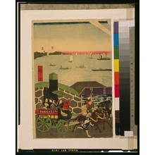 歌川広重: Famous places in Tokyo: real view of Takanawa. - アメリカ議会図書館