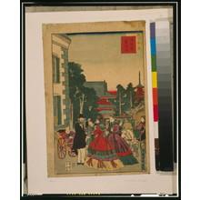 歌川国輝: Scenic places in Tokyo - Asakusa, telegraph bureau. - アメリカ議会図書館