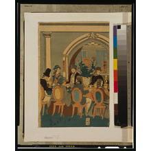 Utagawa Yoshikazu: Banquet of five nations [Yokohama club]. - Library of Congress