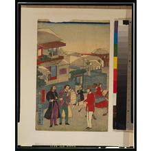 Utagawa Yoshitora: [Foreign settlement house in Yokohama]. - Library of Congress