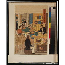 Utagawa Yoshikazu: Foreign settlement house in Yokohama. - Library of Congress