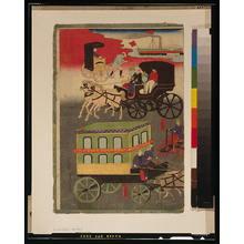 Utagawa Yoshitora: Vehicular traffic in Tokyo. - Library of Congress