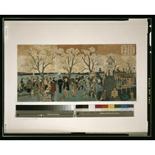 Utagawa Hiroshige: Cherry blossoms in full bloom along Sumida River. - Library of Congress