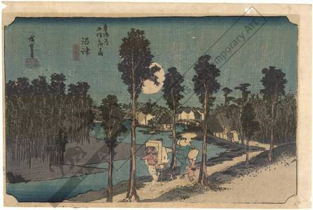 Utagawa Hiroshige: Numazu: Twilight (Station 12, Print 13) - Austrian Museum of Applied Arts